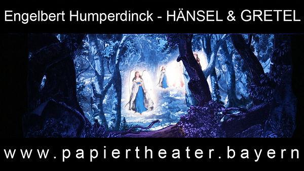Die Engeltreppe aus Humperdincks Oper Hänsel und Gretel in unserer Bearbeitung für Papiertheater.