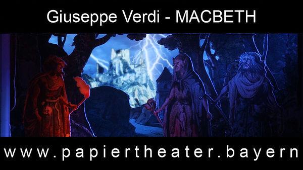 Giuseppe Verdis Macbeth in unserer Papiertheater-Inszenierung.