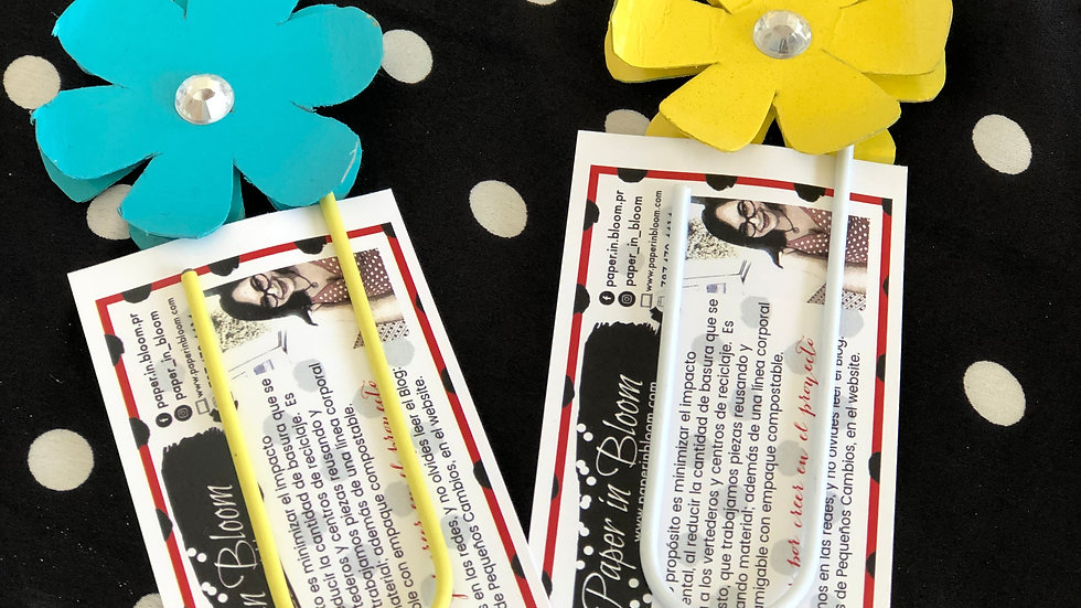 Bookmarks Flores Material Reciclado / Flowers Bookmarks Recycled Material
