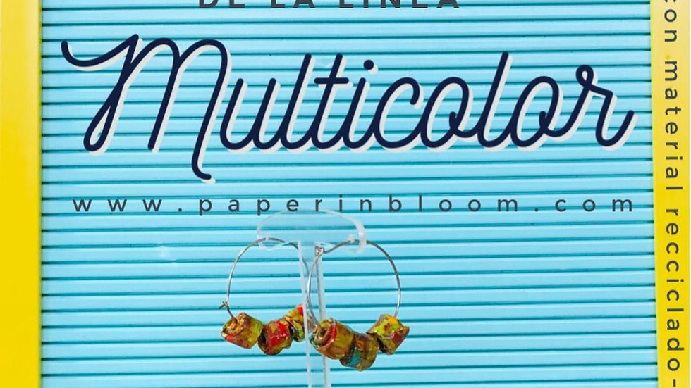Pantallas Multicolor Reciclado / Multicolor Earrings Recycled Material