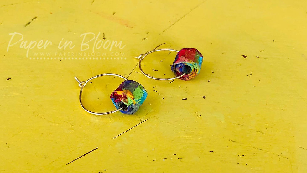 Pantallas Multicolor Pequeñas Reciclado / Small Earrings Recycled Materials