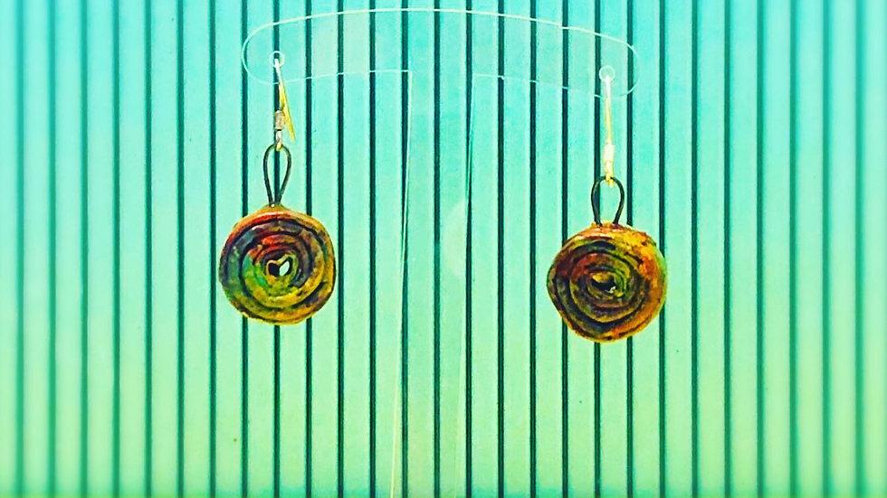 Pantallas Multicolor Medianas Reciclado / Medium Earrings Recycled Materia