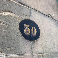 Hand Painted Door Number
