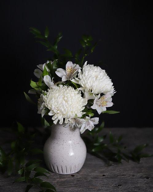 Speckled Bulb Vase