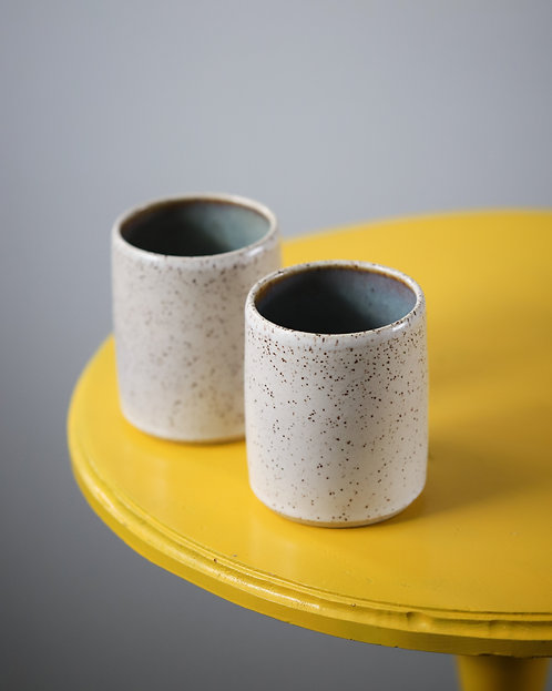 Small Speckled Cups - Set of 2