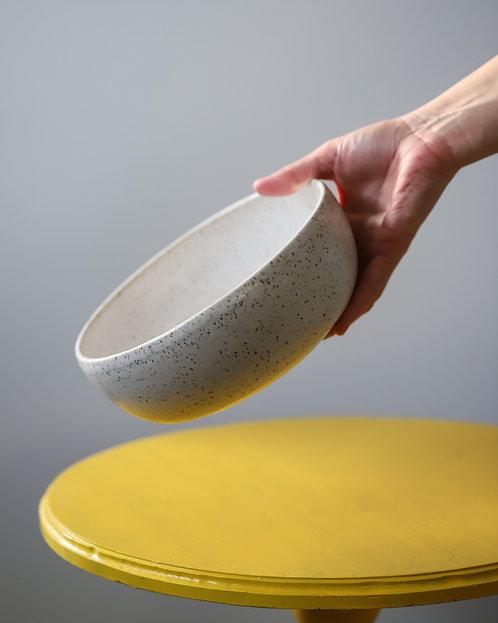 Speckled White Serving Bowl