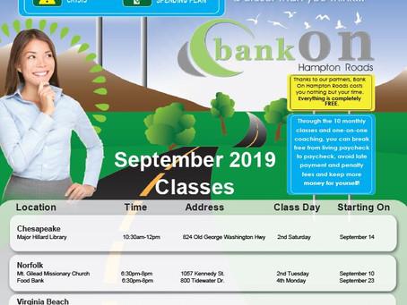 Prepare Now for Bank On Classes Starting In September