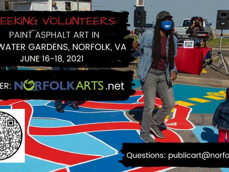 Volunteer to help create Asphalt Art in Tidewater Gardens