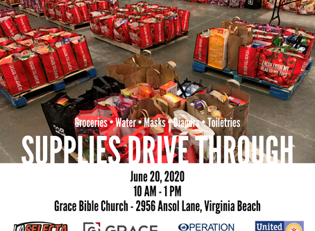 Free Supplies! Water. Groceries. Diapers and more...