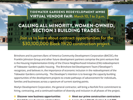 Tidewater Gardens Redevelopment MWBE - Virtual Vendor Fair