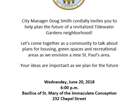 Tidewater Gardens Community Meeting!