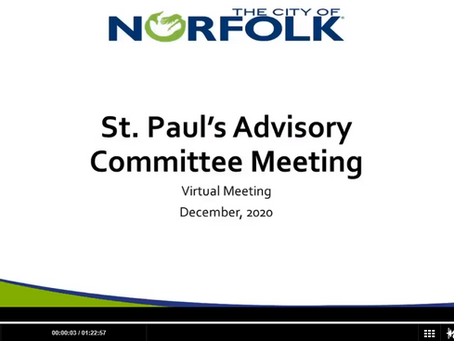 St. Paul's Advisory Committee Meeting 12/16/2020 - Video