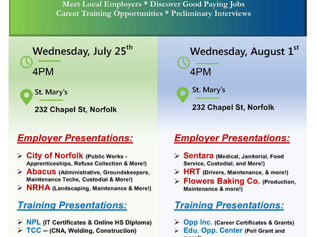 Employment Opportunites and Training!