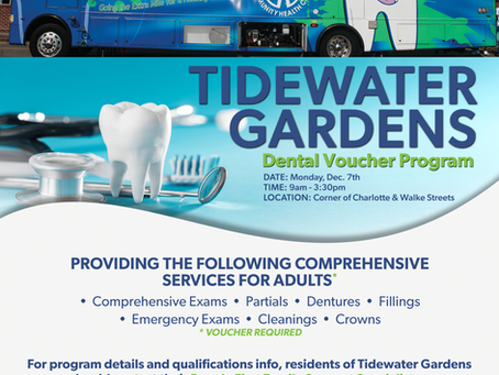 Tidewater Gardens Dental Voucher Program