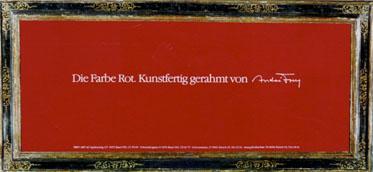 Werbeplakat André Frey - Artinic