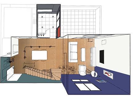 Plan 3D duplexe parisien-pigmenterre