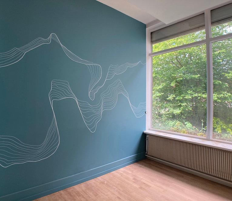 Fresque organique cabinet médical Atelier Pigmenterre