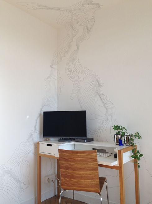 fresque courbes de niveaux atelier pigme