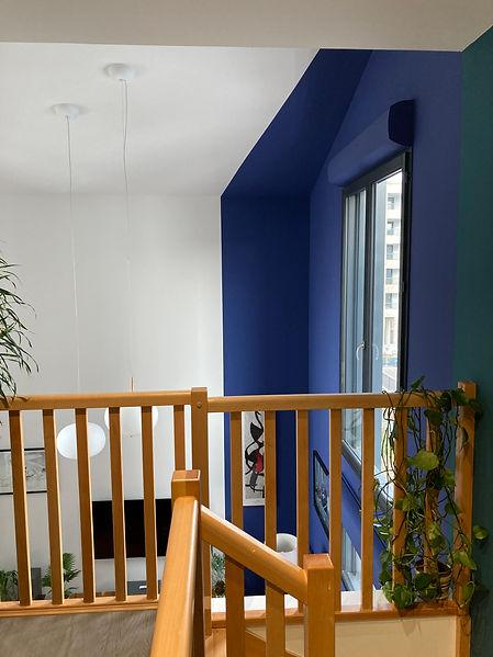Bleu et vert dans un duplexe parisien