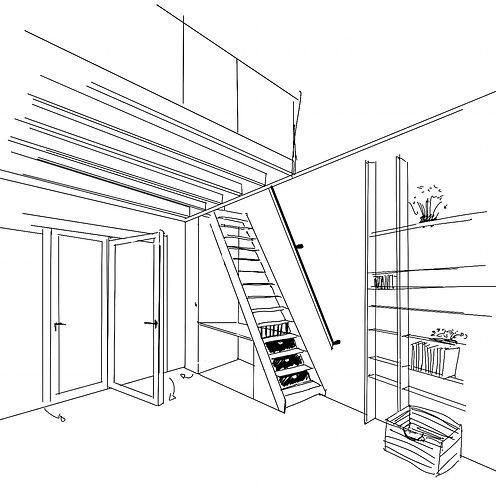 Architecture interieure atelier Pigmente