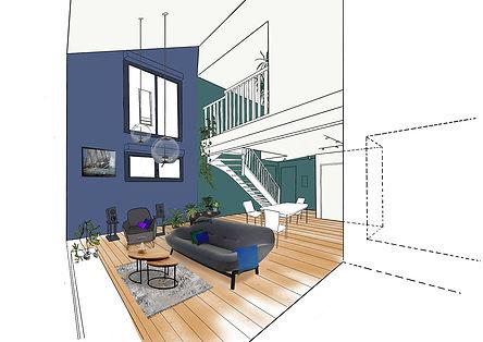 Architecture interieure couleurs pigment