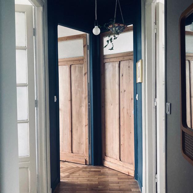 Le couloir, point de départ d'une ambiance chic