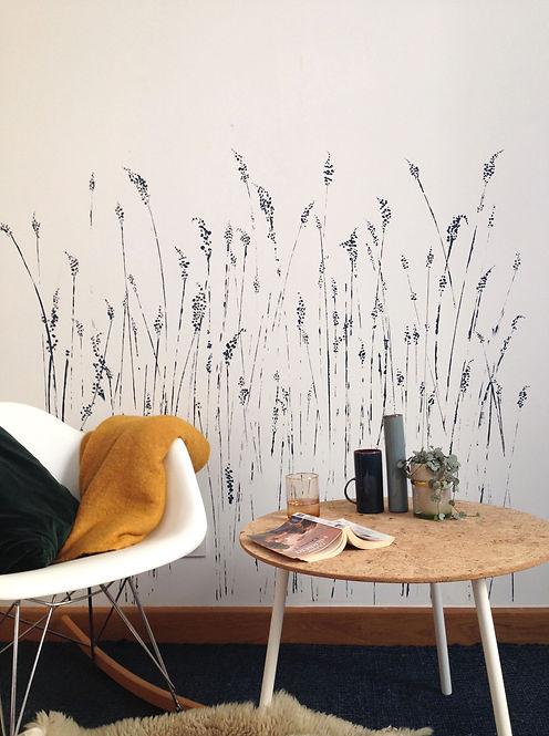Fresque végétale Atelier Pigmenterre