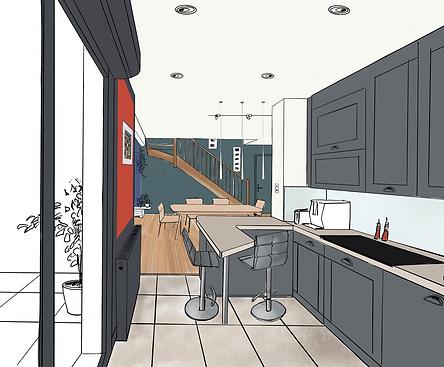 projet de conception intérieur Pigmenterre