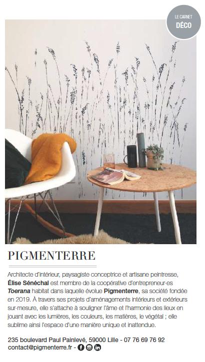 Pigmenterre Elle magazine 2020