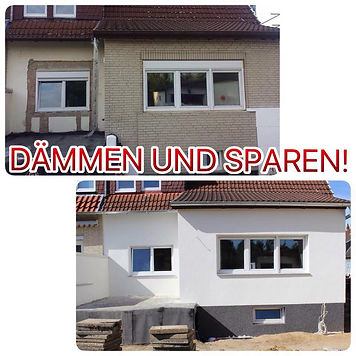 Fassadensanierung Dämmen ud Sparen