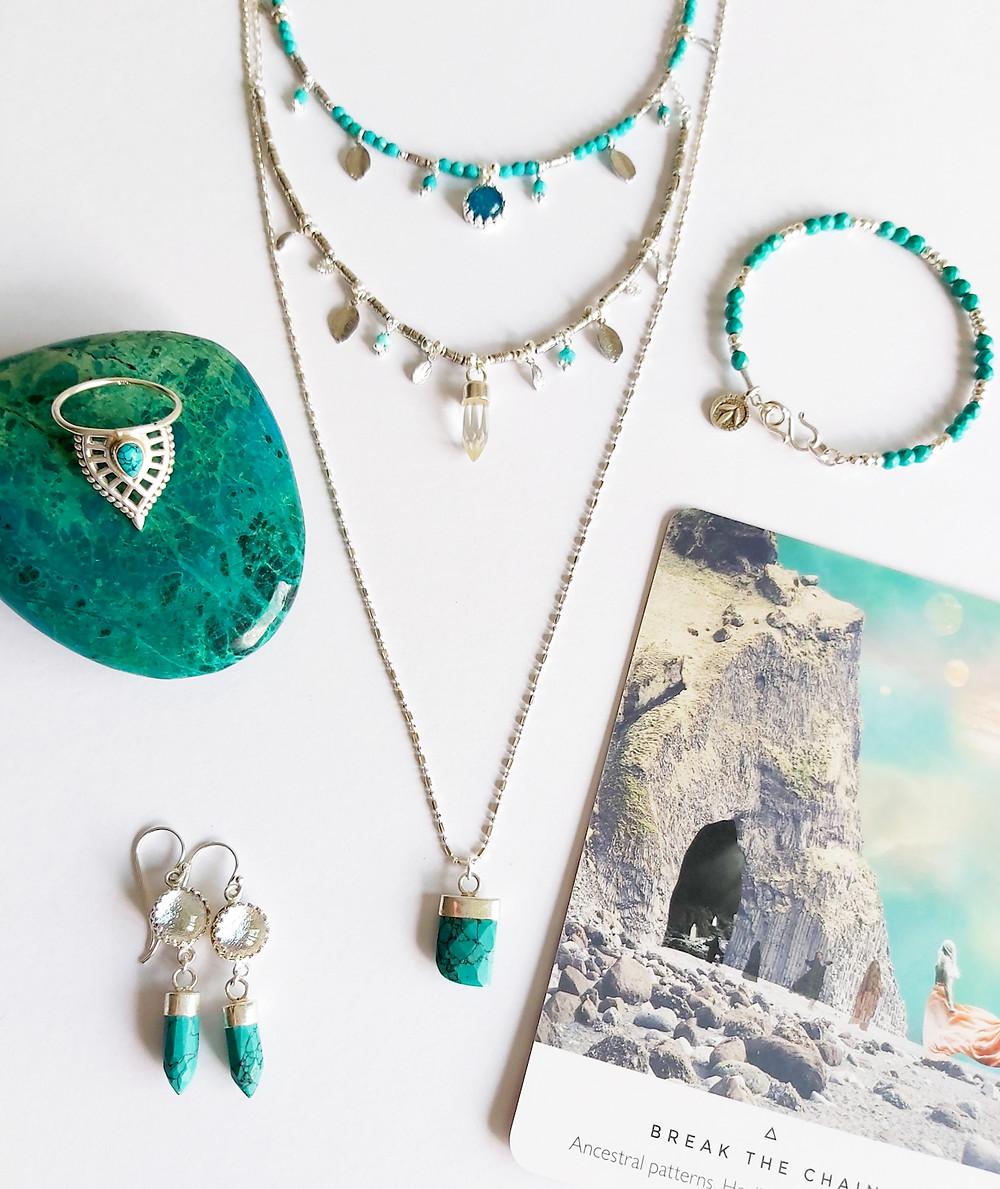 Boho Buffalo turquoise jewellery