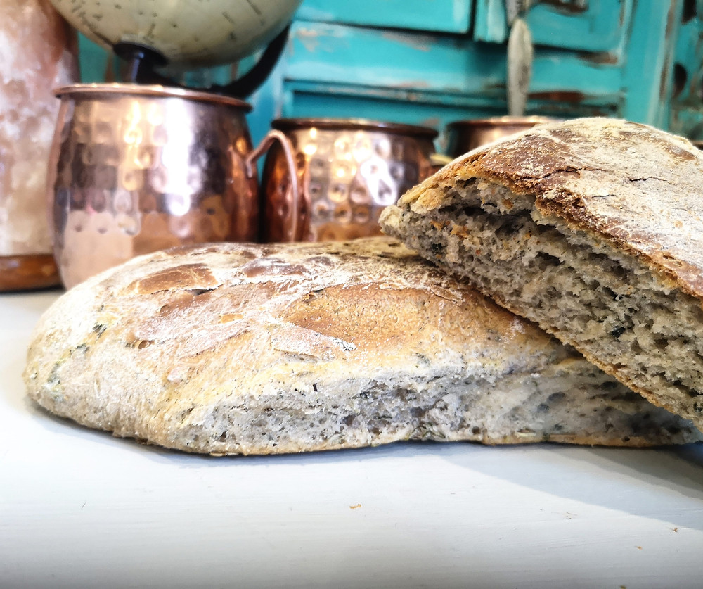 nettle and goose grass ciabatta recipe