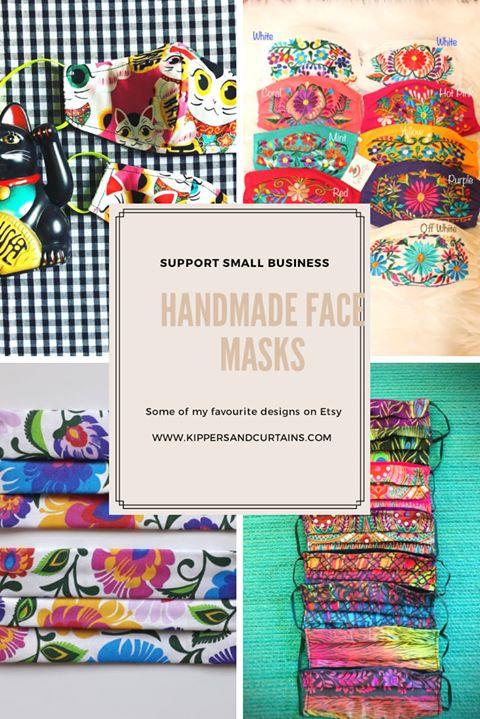 handmade face masks Etsy