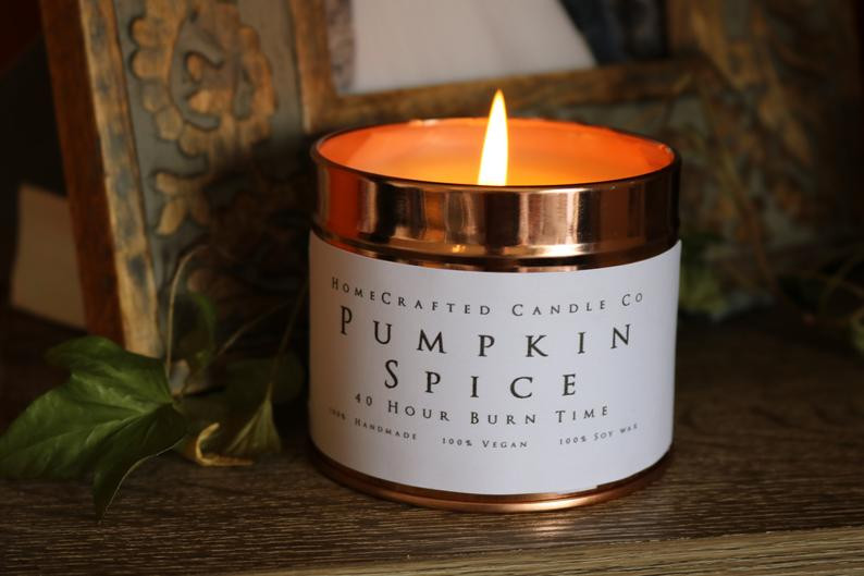 Pumpkin Spice vegan candle