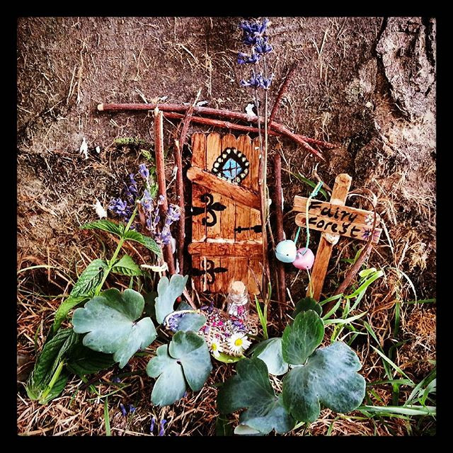 DIY fairy door from lolly sticks