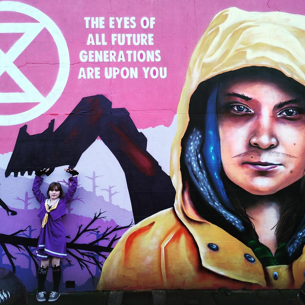 Greta Thunberg mural Brighton