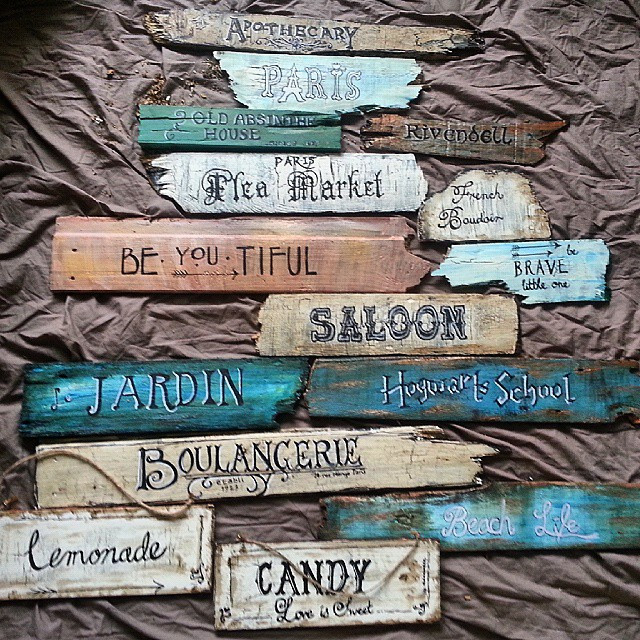 Instagram - Been busy #painting #making #signs