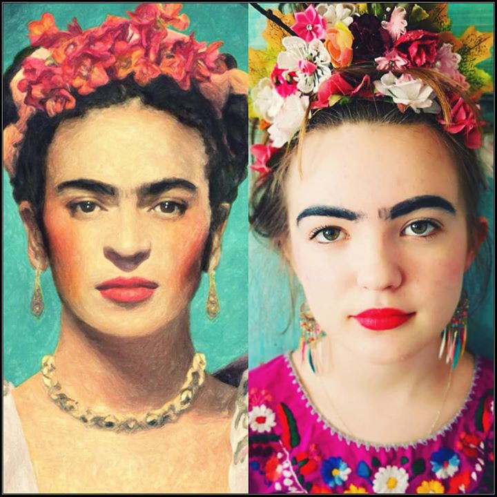Art recreated #gettymuseumchallenge Frida Kahlo