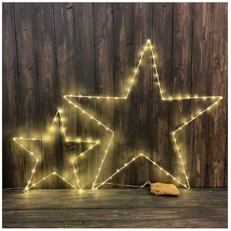 LED wire Christmas light stars