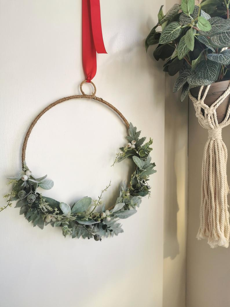 Scandi Hoop Christmas wreath