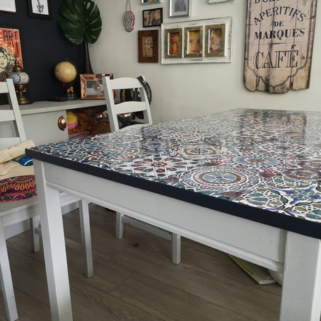 Second-hand table upcycle