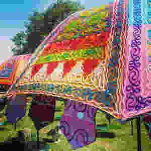 Bohemian parasols at Hobbledown