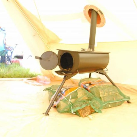 Frontier Stove in our bell tent