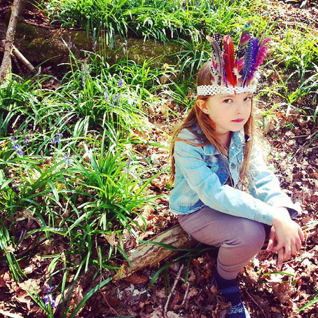 Make: The Easiest Feather Crown Ever!