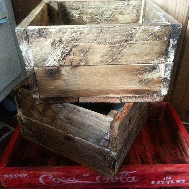 Instagram - DIY crates from old pallets #after #upcycle