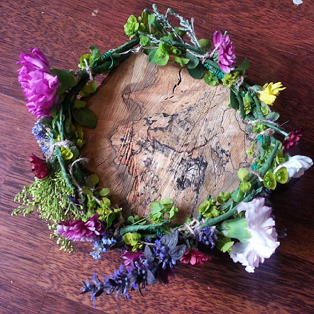 Instagram - Today's flower crown