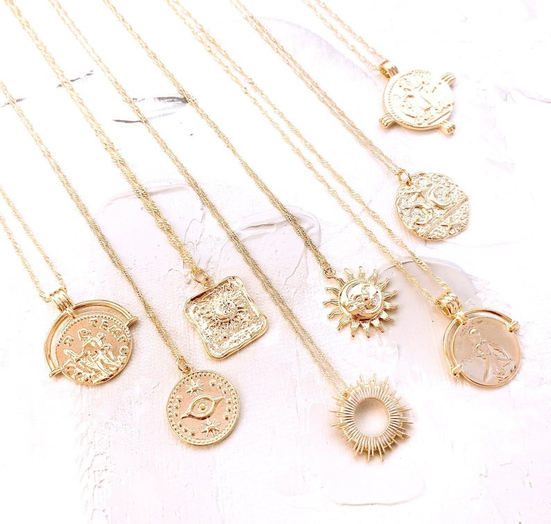 Celestial jewellery necklaces