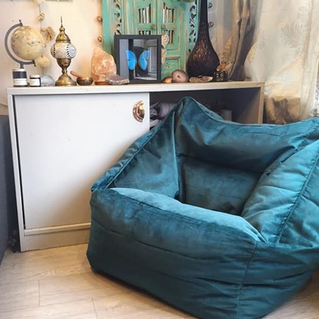 Bean Bag Bazaar ICON Velvet Armchair Review (oh, and a giveaway!)