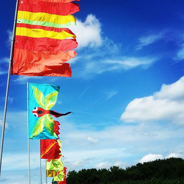 The festival style flags at hobbledown