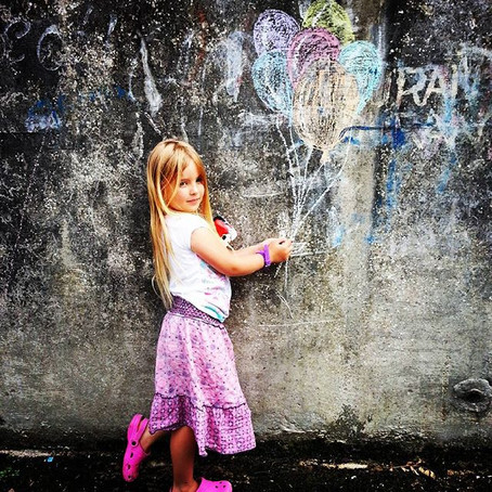 Creating street art with Chalkies
